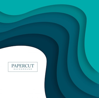 Papercut colorful wave design illustration