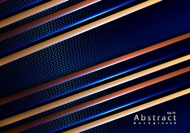 Papercut elegant gold carbone blue