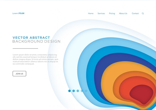 Papercut landing page or web template