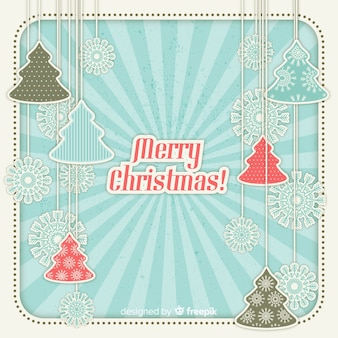 Papercut merry christmas background