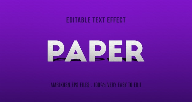 Papercut text effect