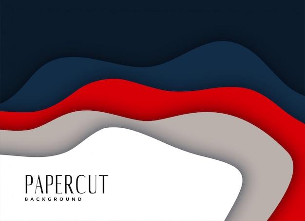 抽象的なpapercutレイヤードバックグラウンドデザイン