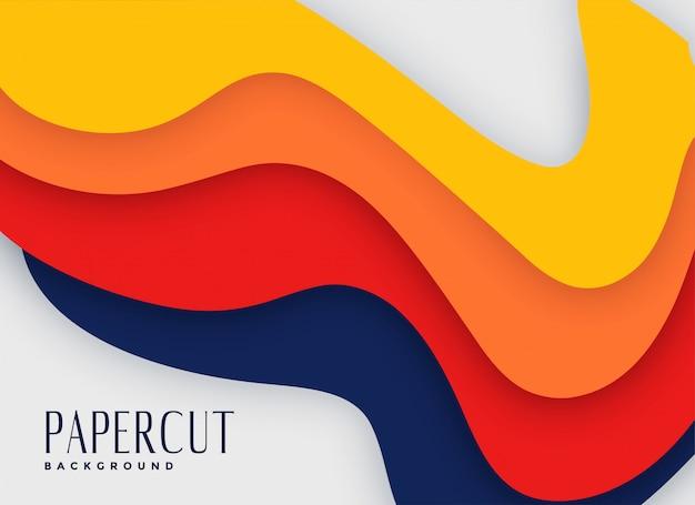 Абстрактный яркий цвет фона papercut