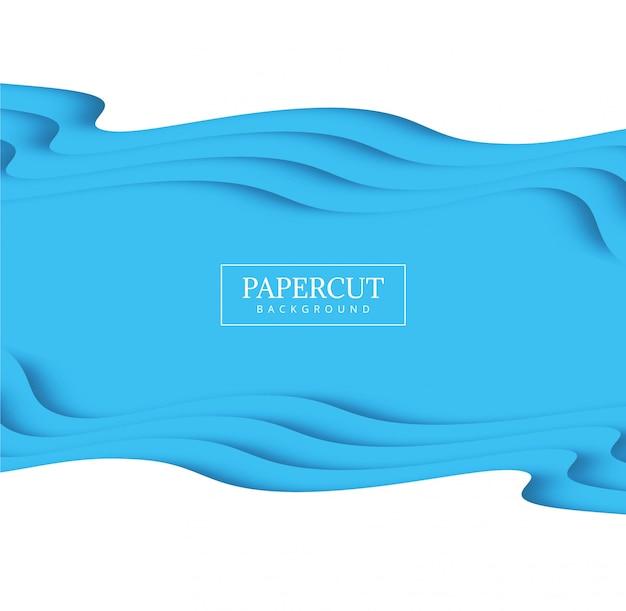 Современный дизайн креативной формы papercut