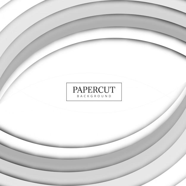 Красивый papercut серый фон волны