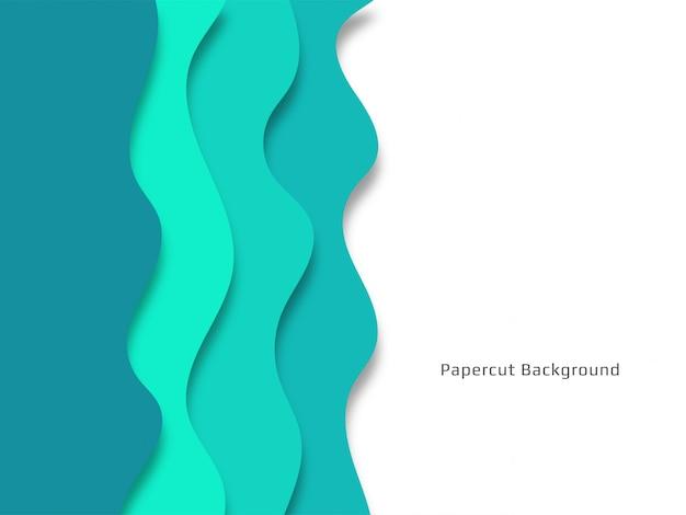 スタイリッシュな装飾的なpapercutの背景