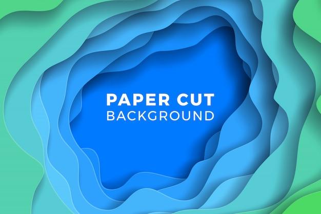 Многослойный красочный реалистичный фон papercut. векторная иллюстрация