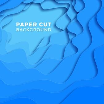 Многослойный красочный реалистичный фон papercut.