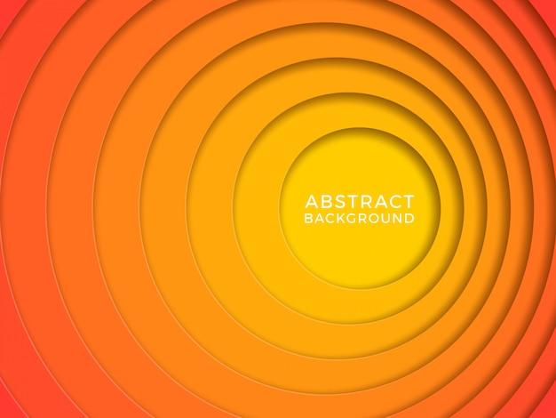 Papercutサークルと抽象的な背景