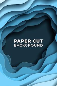 Papercut穴と抽象的な背景
