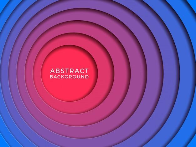 Многослойный красочный реалистичный фон papercut с круглыми отверстиями