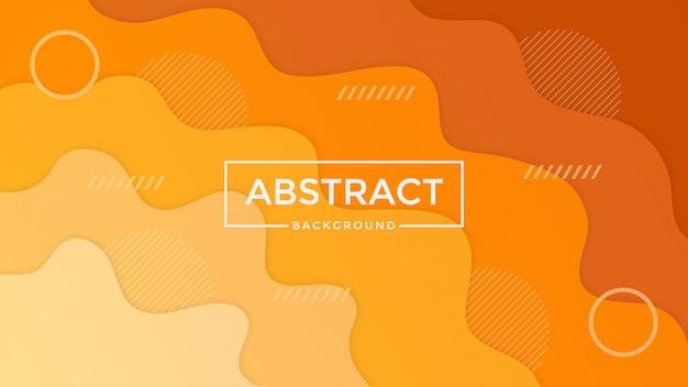 抽象的なオレンジpapercut背景デザイン