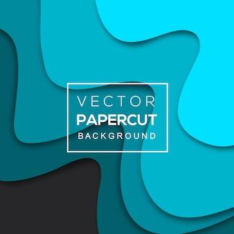 Красочный фон вектор papercut