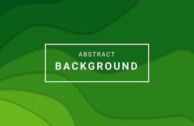 Зеленый цвет абстрактного фона. стиль papercut.