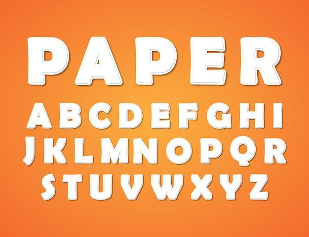 Papercutスタイルのアルファベット