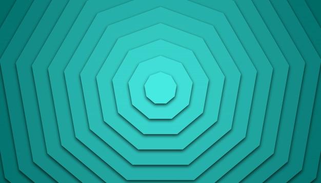 Гексагональной papercut фон