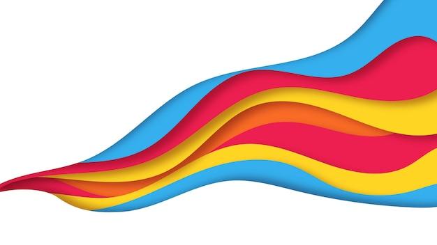 抽象的なカラフルなpapercut背景