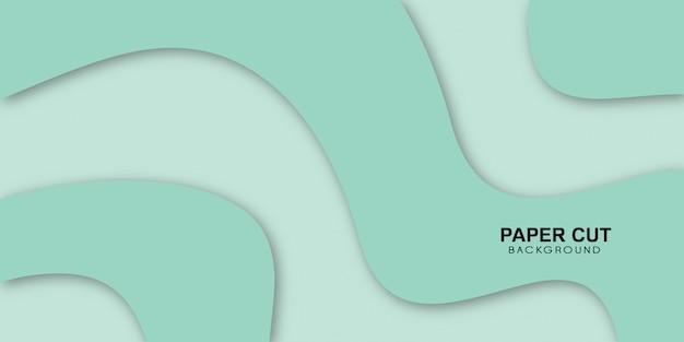 Зеленый современный papercut использовать бизнес, баннер, плакат.