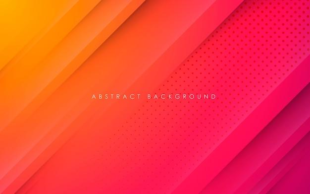 抽象的なグラデーションpapercut形状の背景
