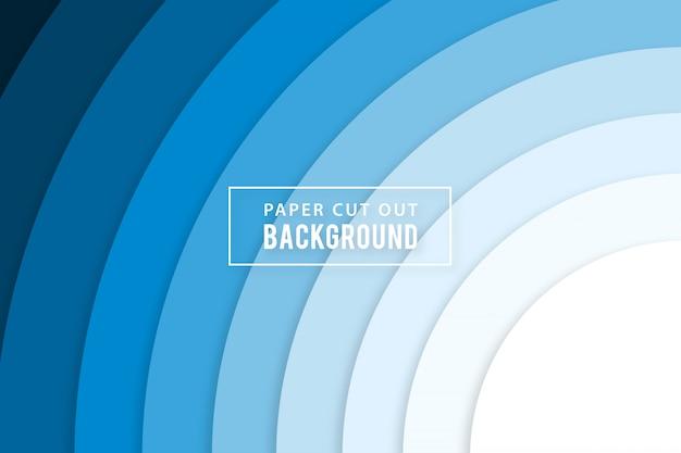 Синий радиальный цвет градиента papercut фон