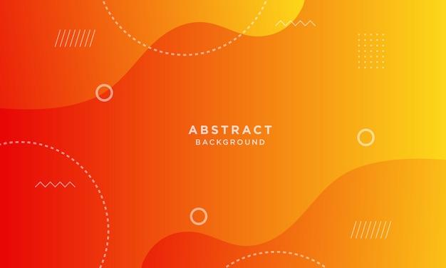 Абстрактный оранжевый динамический фон papercut в стиле мемфис