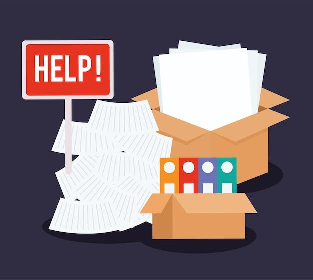 Paperwork piles representation