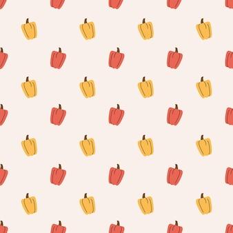 Paprika seamless pattern background