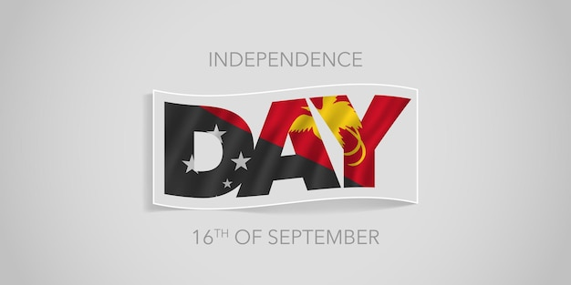 Papua new guinea happy independence day vector banner greeting card