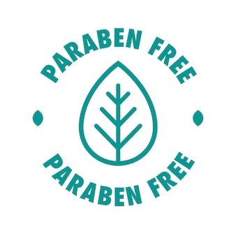 Paraben free vector cosmetic label for natural ingredients eco friendly skincare health safe product