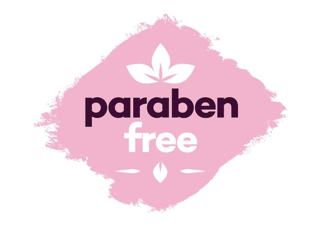 Paraben free vector label isolated on background for natural ingredients eco friendly cosmetic
