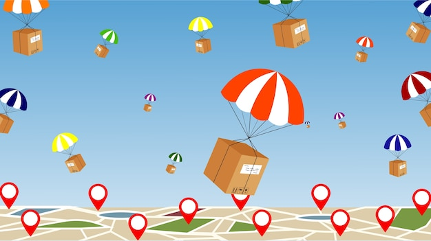Parachute delivery