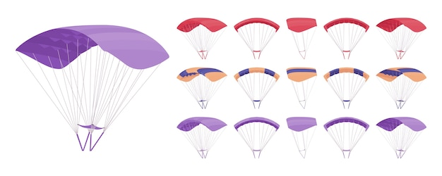Parachute equipment isolated on white