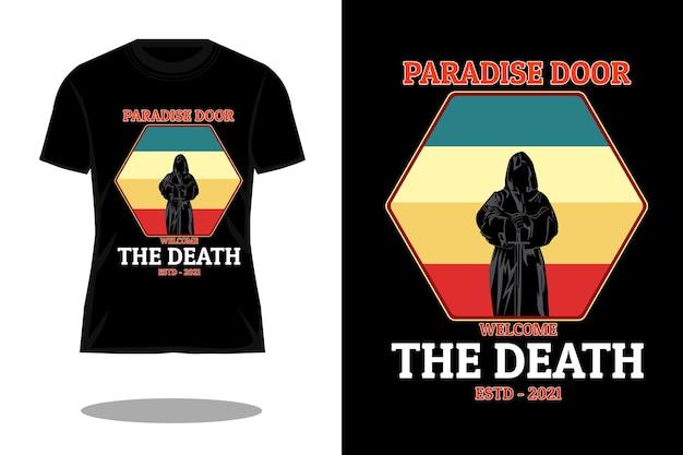 Paradise door t shirt design