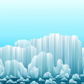 Parallax фоне айсбергов и моря