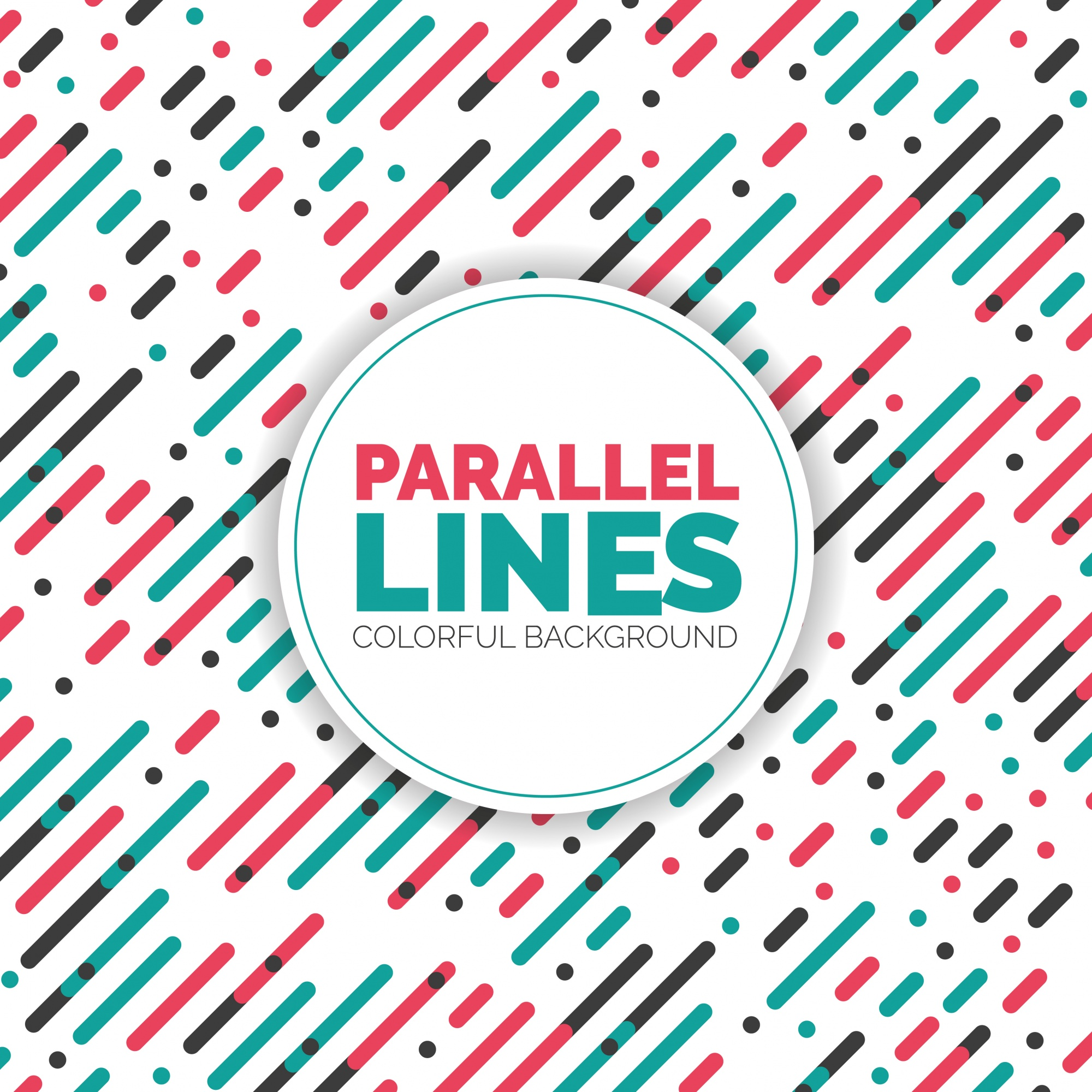 Parallel Diagonal Overlapping Color Lines Pattern Background