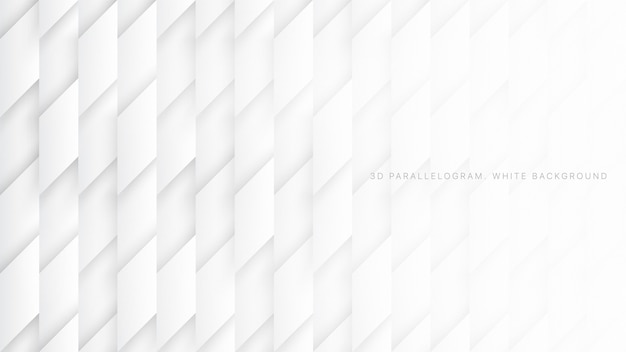 Parallelogram blocks tech science white abstract background