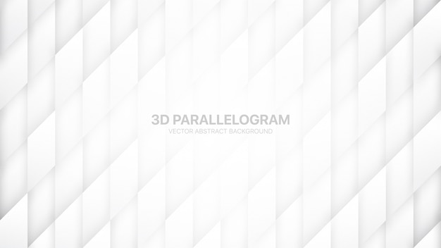 平行四辺形の構造抽象的な白い背景