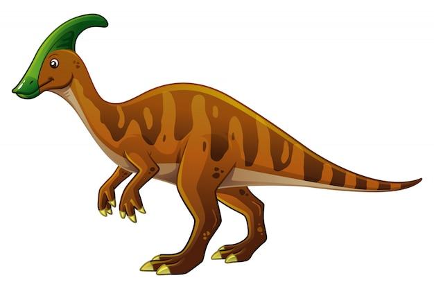 Parasaurolophus cartoon illustration