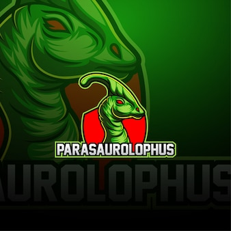 Логотип талисмана parasaurolophus esport