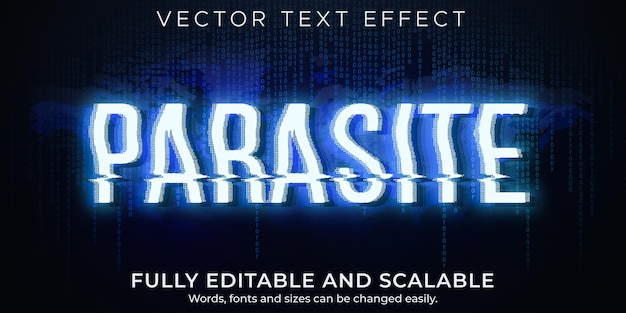 Parasite text effect editable virus and attack text style
