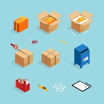 Set di pacchi postali