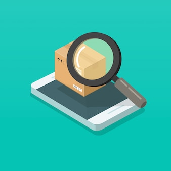Parcel searching with magnifier glass