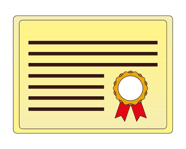 Parchment diploma graduation icon vector illustration design