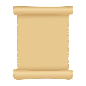 Parchment or old magic paper scroll.