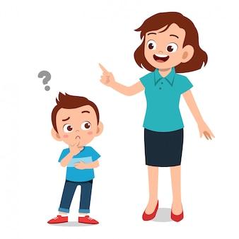 아이를 가르치는 부모의 도움