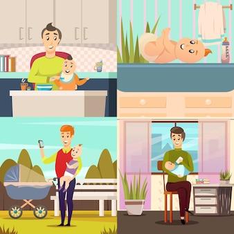 Parental leave 4 ортогональных иконки