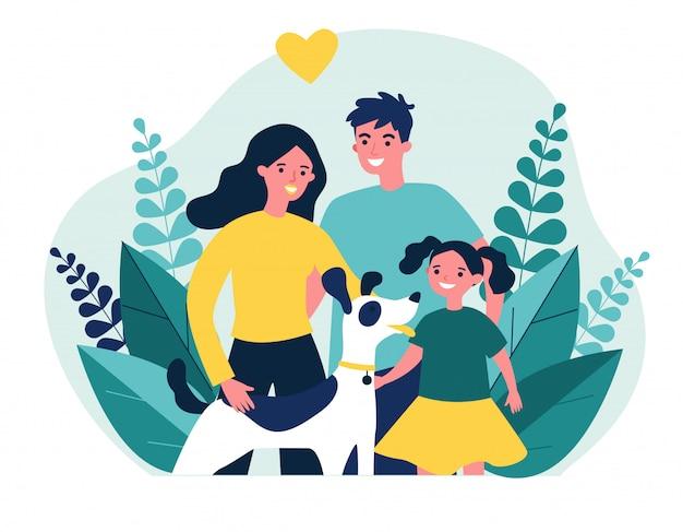Родители дарят питомца своему ребенку