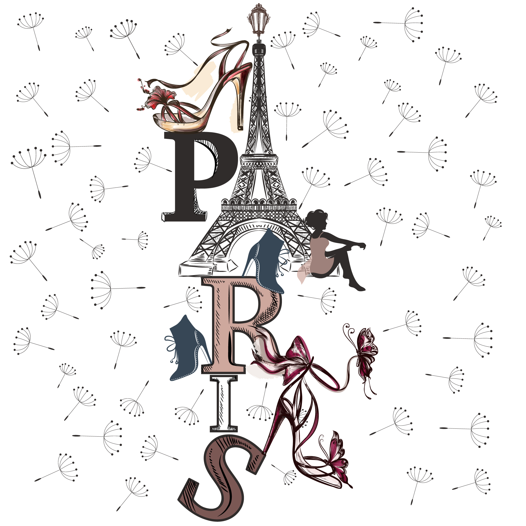 Paris background design