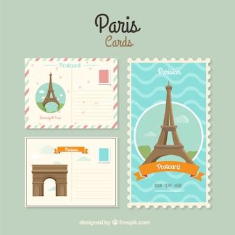 Париж карточки шаблон