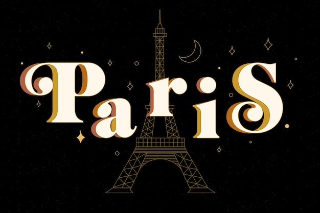 Paris city lettering